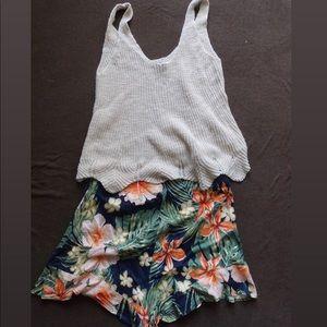 Summer Tank and Floral Short Skort